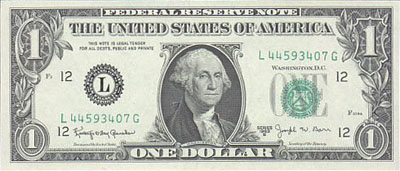 United States Ferderal Reserve Note
